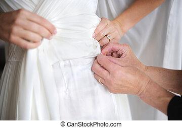 服, クローズアップ, 幸運, ピン, 結婚式