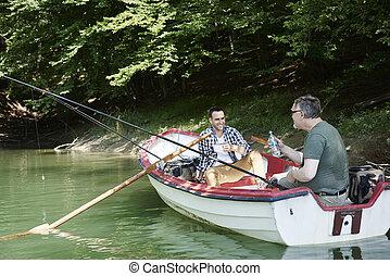 朗らかである, 男性, 湖釣