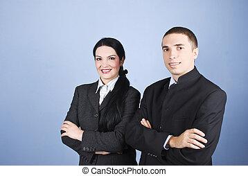 朗らかである, 2, ビジネス 人々