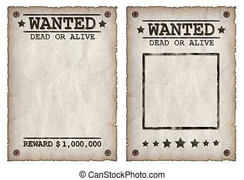 望まれる, 死んだ, ∥あるいは∥, 生きている, grungy, ポスター