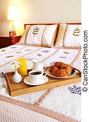 朝食, ホテルの部屋, ベッド