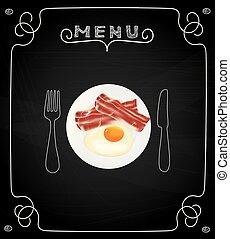 朝食, メニュー, 黒板