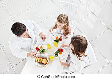 朝食, 家族