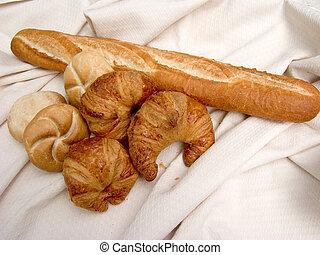 朝食, 新たに, bread.