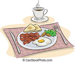 朝食, 英語