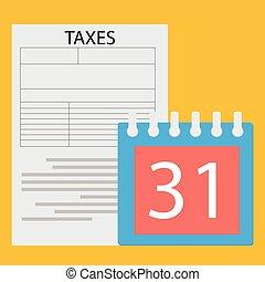 期限, 税, 日
