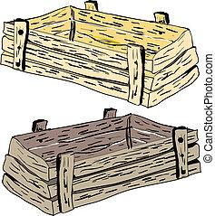 木制柳條箱