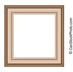 木制框架, 白色, 被隔离