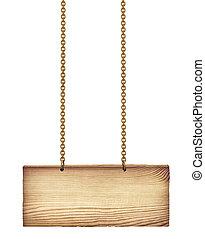 木制的板, 空白