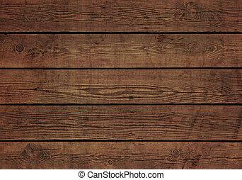 木制的板, 结构