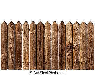 木制的栅栏