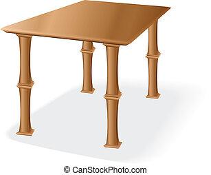 木制的桌子