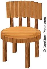 木制的椅子, 白色, 輪
