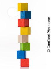 木制的玩具, 块