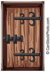 木制的門, 在, 中世紀的風格