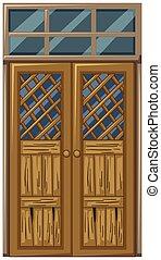 木制的門, 在, 窮, 條件