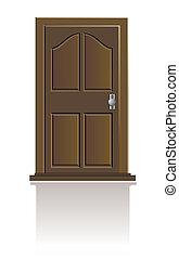 木制的門, 被隔离