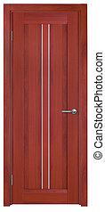 木制的門, 被隔离, 背景