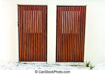 木制, 前門, ......的, a, home.