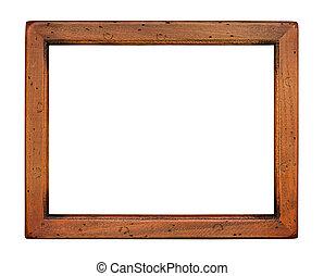 木制, 套間, 框架, 平原, 圖片