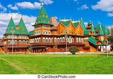 木制, 宫殿, 在中, russia