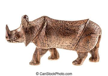 木制, 小雕像, 犀牛
