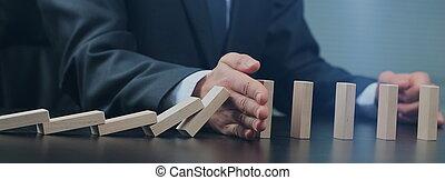 木制, 放置, 计划, 男性, 策略, 手, 块, 概念, tower.