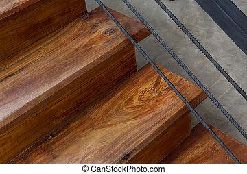 木制, 楼梯