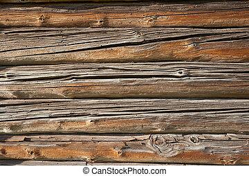木制, 牆, 老