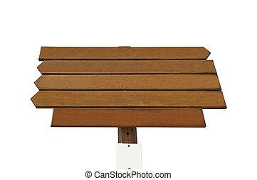 木制, 白色, 空, 背景, 签署