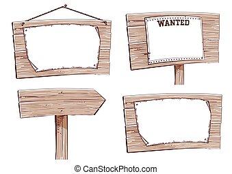 木制, 白色, boards.vector, 被隔离
