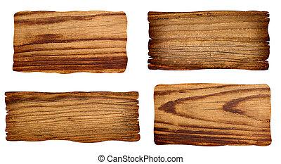 木制, 簽署, 背景, 消息