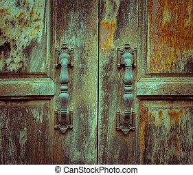 木制, 老, 處理, 門