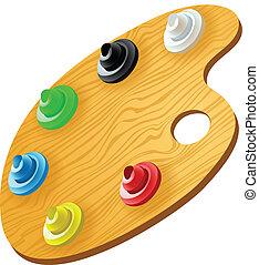 木制, 调色板, 艺术
