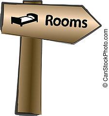 木制, 路標, 房間, 顏色