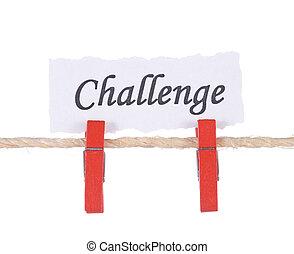 木制, 釘, 懸挂, 詞, 挑戰