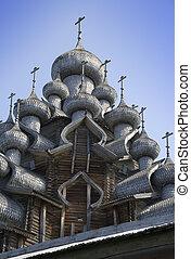 木制, 镇, 'kizhi', russia