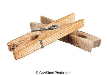 木制, clothespin
