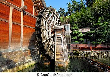 木制, waterwheel
