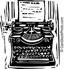 木刻, 打字机