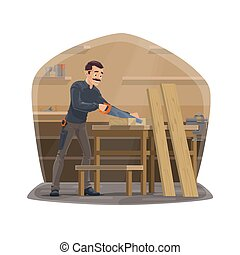 木工事, 大工, 仕事, 大工仕事, 道具, 人