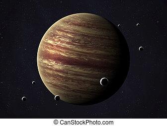 木星, イメージ, gov., 取られる, nasa., space., www 。, コラージュ, 打撃, 開いた, 供給された
