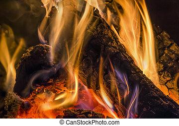 木材を伐採する, 燃焼