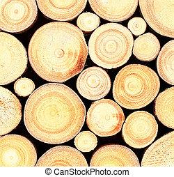 木材を伐採する, 背景, 木