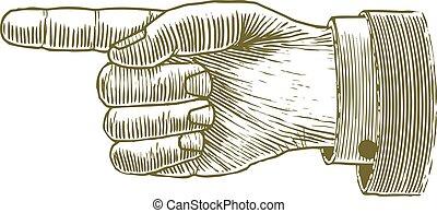 木版, 指すこと, 手