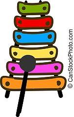 木琴, illustration., カラフルである, 色, ベクトル, ∥あるいは∥