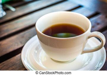 木製である, お茶, クラシック, テーブル, カップ