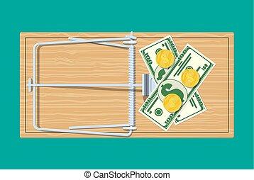 木製である, お金, マウスの トラップ