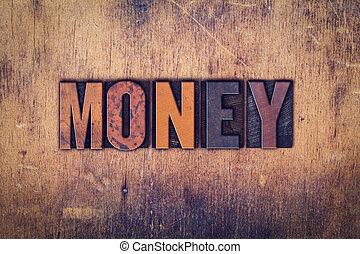 木製である, お金, 概念, タイプ, 凸版印刷