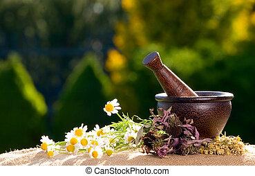 木製である, すりこぎ, ∥で∥, chamomiles